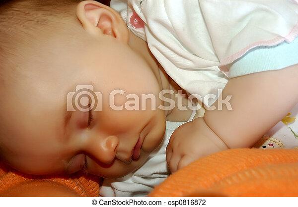 Sleeping baby - csp0816872
