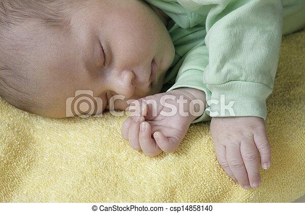 Sleeping baby - csp14858140