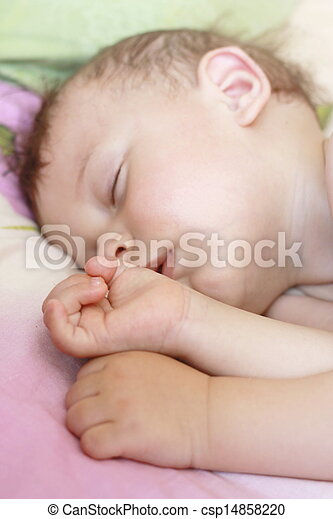 Sleeping baby - csp14858220