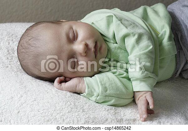 Sleeping baby - csp14865242