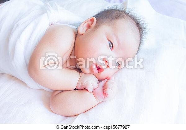 sleeping baby - csp15677927