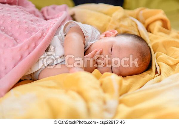 Sleeping baby - csp22615146