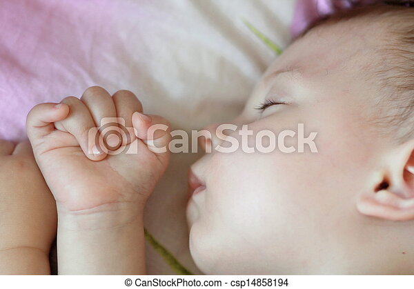 Sleeping baby - csp14858194