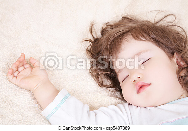 Sleeping baby - csp5407389