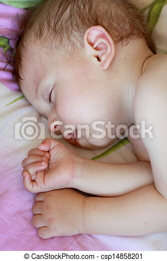 Sleeping baby - csp14858201