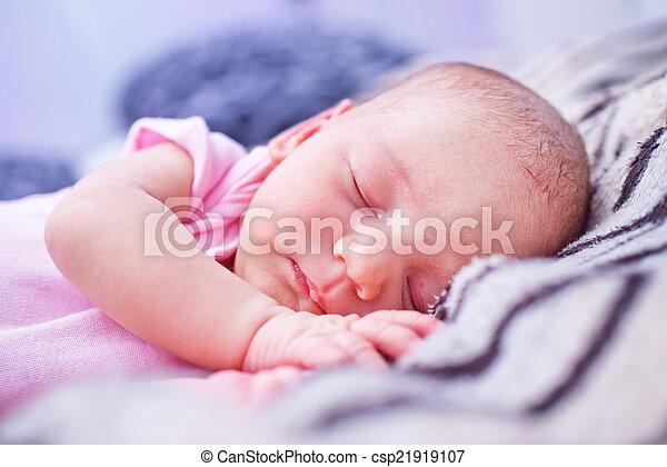 sleeping baby - csp21919107