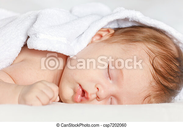 Sleeping baby - csp7202060