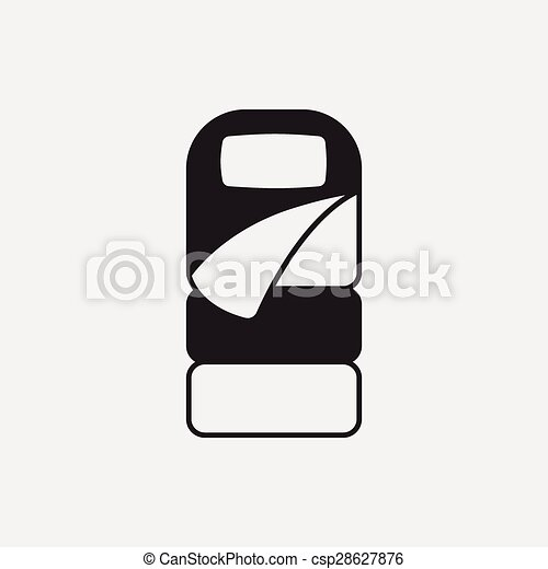 Sleeping Bag Icon Vectors Illustration