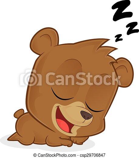 sleeping bear clipart picture of a sleeping bear cartoon character rh canstockphoto com Sleeping Bear Clip Art Black and White Sleeping Bear Clip Art Black and White