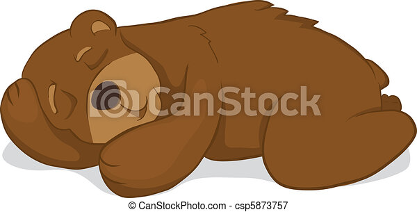 sleeping bear isolated on white background vectors illustration rh canstockphoto com Sleeping Bear Clip Art Black and White sleeping teddy bear clipart