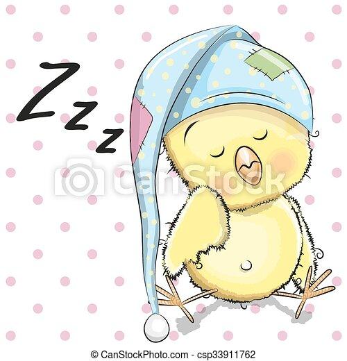 Sleeping Chicken - csp33911762