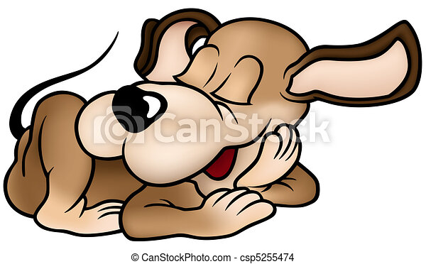 sleeping dog colored cartoon illustration vector eps vector rh canstockphoto com  sleeping dog clipart black and white