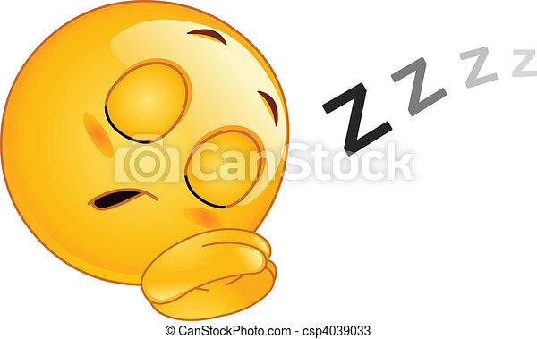 Sleeping emoticon - csp4039033