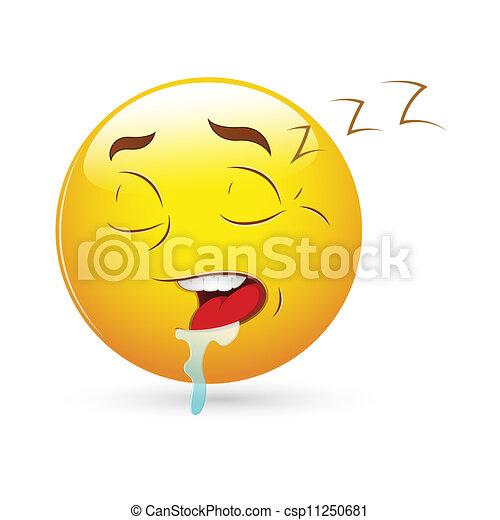 Sleeping Expression Smiley Icon - csp11250681
