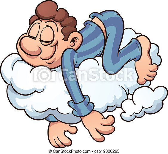 Sleeping on a cloud - csp19026265