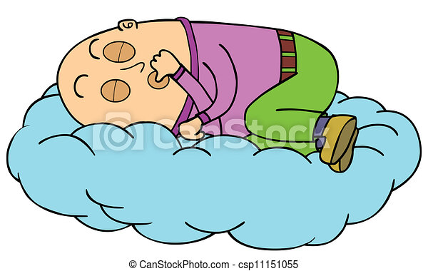 sleeping on cloud man sleep alone on a cloud clipart vector search illustration drawings and. Black Bedroom Furniture Sets. Home Design Ideas