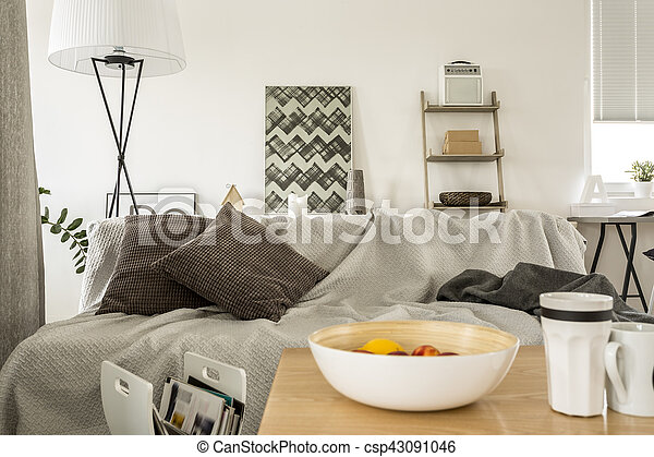 Sleeping sofa in lounge - csp43091046