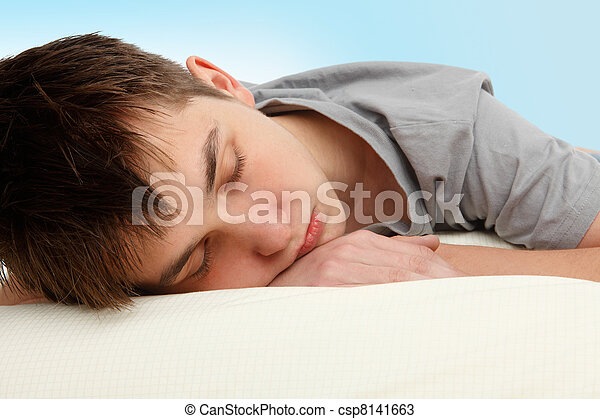 Sleeping teenager - csp8141663