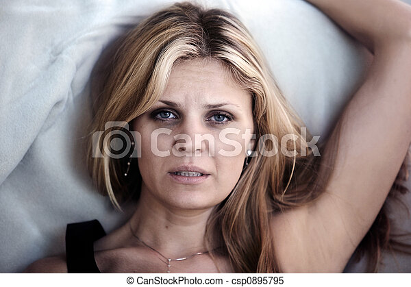 Sleepless woman - csp0895795