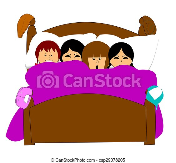 sleepover girl friends sleeping over at slumber party stock rh canstockphoto com free clipart sleepover party free clipart sleepover party