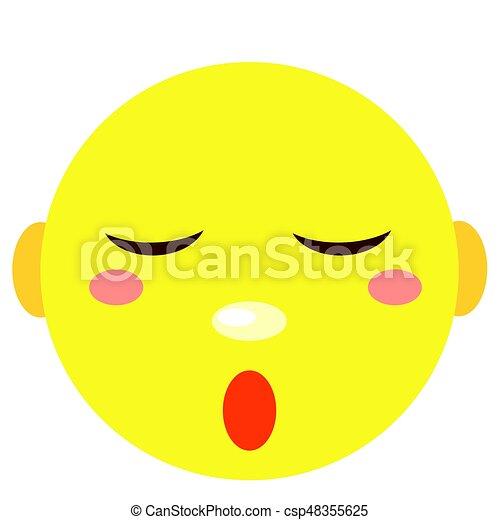 Smiley duerme. Iconos en un fondo blanco. - csp48355625