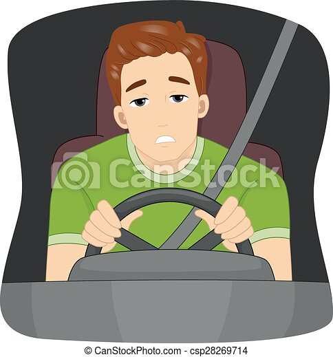 sleepy driver illustration of a sleepy male driver dozing vector rh canstockphoto com driving clipart gif driving clipart free