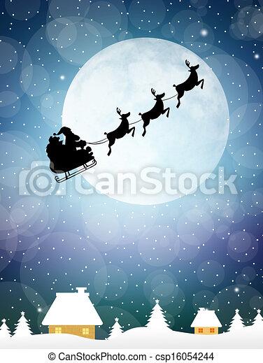 Sleigh of Santa Claus - csp16054244