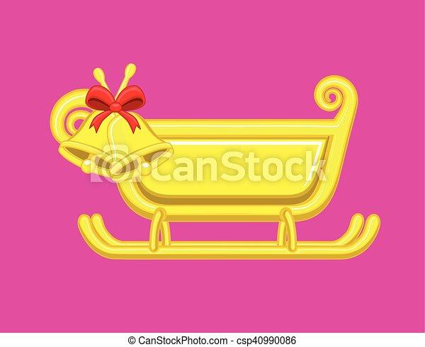 Vector de campanas de navidad - csp40990086