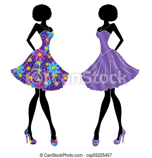 3a1493a031bca Slender stylish girls in short dresses. Slender stylish young models ...
