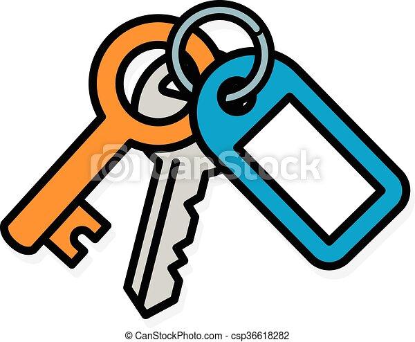 sleutels woning metaal twee label bos brengen