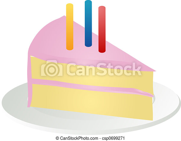 Slice Of Birthday Cake Csp0699271