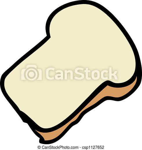 slice of bread cartoon food illustration of a slice of clip art rh canstockphoto com two slices of bread clipart