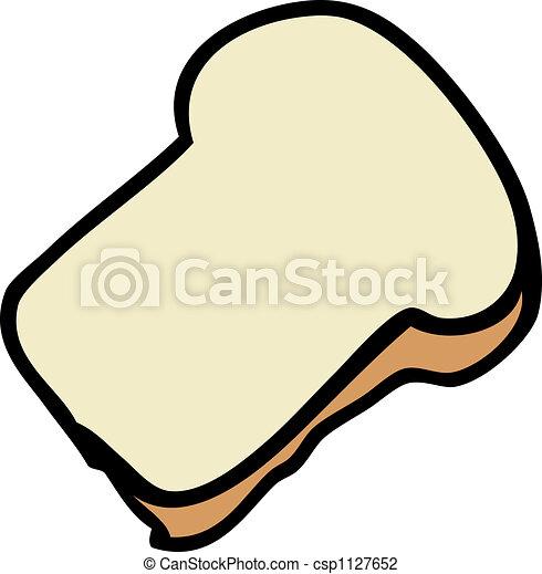 slice of bread cartoon food illustration of a slice of clip art rh canstockphoto com break clipart beard clip art free