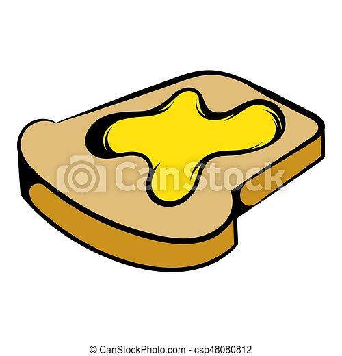 slice of bread with honey icon icon cartoon slice of bread rh canstockphoto com bread slice clipart slice of bread clipart free