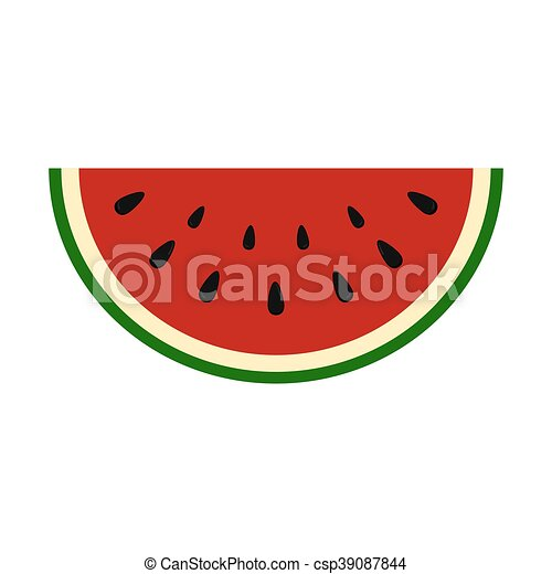 slice of juicy summer watermelon on a white background eps rh canstockphoto com watermelon vector psd watermelon vector free download
