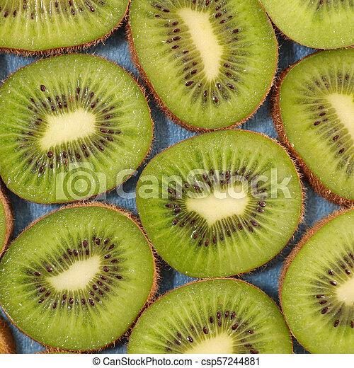 slice of kiwi background - csp57244881