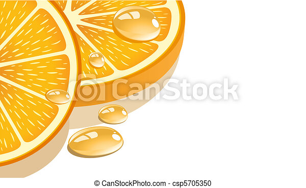Slice of orange - csp5705350