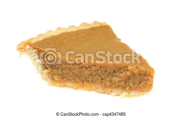 Slice of Pumpkin Pie - csp4347485