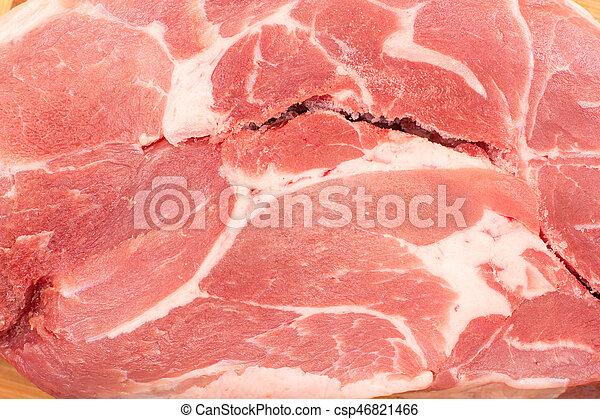 slice of raw pork meat - csp46821466