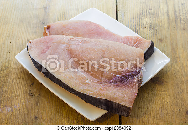 Slice of swordfish - csp12084092