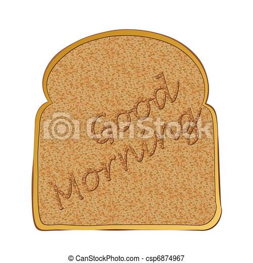 Slice of toast morning - csp6874967