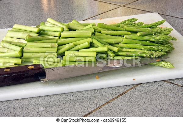 Sliced asparagus - csp0949155