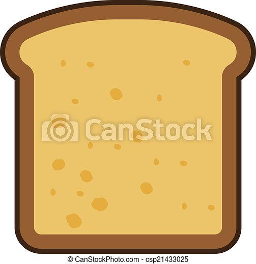 sliced bread icon toasted bread slice vector vector illustration rh canstockphoto com slice of bread clipart black and white bread slice clipart