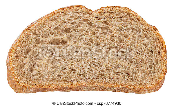 Sliced Bread isolated on white background. Top view - csp78774930