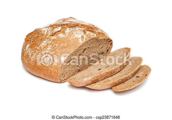 sliced bread (isolated) - csp23871648