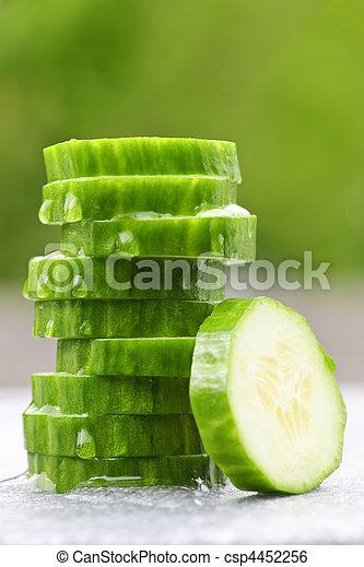 Sliced cucumber - csp4452256