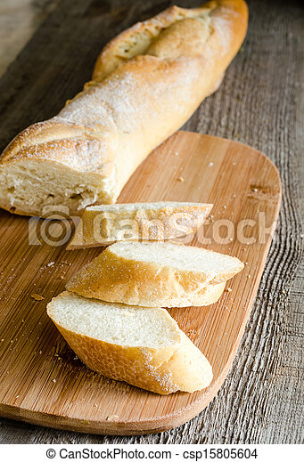 Sliced french bread baguette - csp15805604