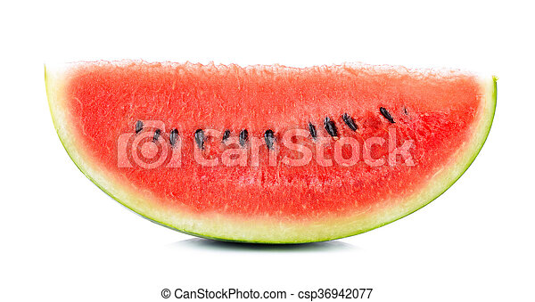 Sliced of watermelon isolated on white background - csp36942077