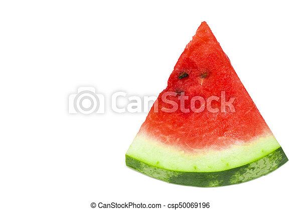 Sliced of watermelon isolated on white background - csp50069196