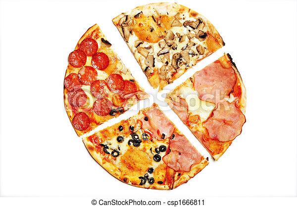 Sliced pizza - csp1666811
